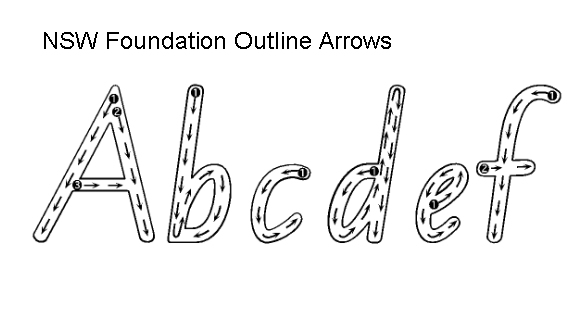 NSW Foundation outline arrows